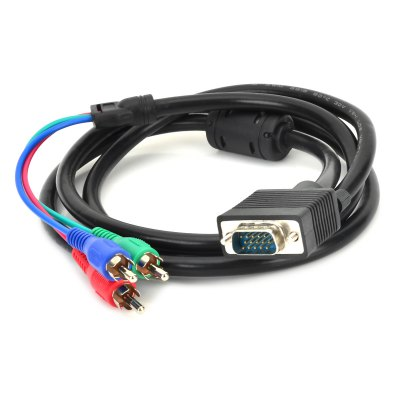 VGA 15Pin to Three Component Video Cable