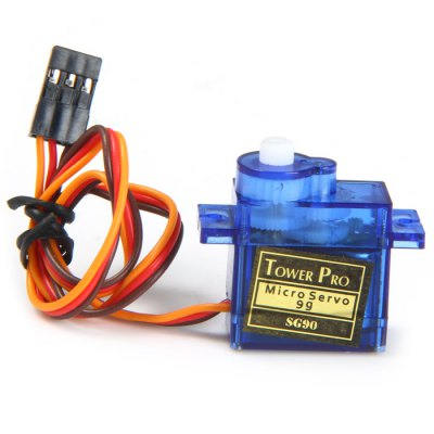 Towerpro SG90S Micro Analog Servo Gear 9g with Cross Arm for RC Models Biped RoboticsMulti Rotor Parts<br>Towerpro SG90S Micro Analog Servo Gear 9g with Cross Arm for RC Models Biped Robotics<br><br>Package Contents: 1 x Towerpro SG90 Micro Analog Servo Gear for RC Models Robotics, 1 x Cross Arm<br>Package Size(L x W x H): 13.00 x 9.00 x 4.20 cm / 5.12 x 3.54 x 1.65 inches<br>Package weight: 0.065 kg<br>Product Size(L x W x H): 3.50 x 3.00 x 1.20 cm / 1.38 x 1.18 x 0.47 inches<br>Product weight: 0.009 kg<br>Type: Analog Servo