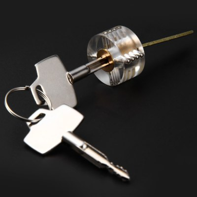 Transparent Cross Lockpick Training Lock
