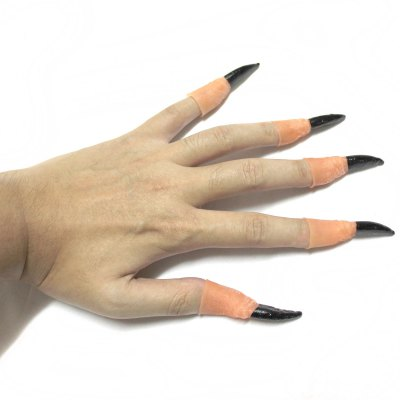 Halloween Terror Finger Sleeve for Tricky Cosplay Party Decoration - 10 Pcs