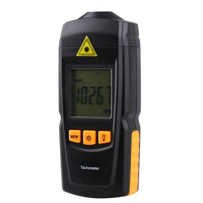 GM8905 Digital TachometerTesters &amp; Detectors<br>GM8905 Digital Tachometer<br><br>Accuracy  : +/- (0.1 percent n+5d) RPM(2.5 to 999.9RPM), +/-(1%n+5d) RPM(1000 to 99999RPM)<br>Certificate: CE,RoHs<br>Laser Beam: Classic 2, 2-5mW<br>Material: Plastic<br>Maximum Show Value: 99999 RPM<br>Measurement range : 2.5 to 99999 RPM<br>Model: GM8905<br>Package Contents: 1 x GM8905 Digital Tachometer, 2 x 1.5V AAA Battery, 2 x Reflection Tape, 1 x English Manual<br>Package size: 18.5 x 11 x 4 cm / 7.27 x 4.32 x 1.57 inches<br>Package weight: 0.203 kg<br>Primary functions: Measuring Mechanical Rotational Speed<br>Product size: 5.6 x 3 x 13 cm / 2.20 x 1.18 x 5.11 inches<br>Product weight: 0.106 kg<br>Professional instruments: Clamp Meter<br>Sampling Time: 1 Time Per Second<br>Scope of application: Office, Education, Agricultural, Industrial, Home appliance<br>Type: Measuring tools<br>Working Mode: Instant Measurement<br>Working Power: 1.5V AAA Battery