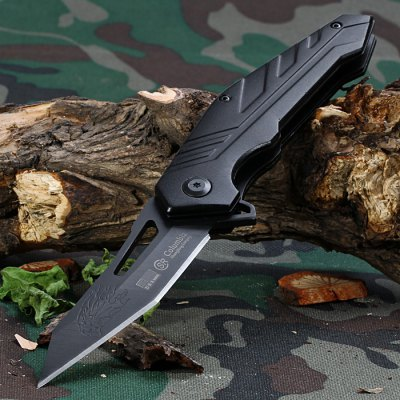 SR B548B Folding Knife with Plastic Clip and Liner Lock