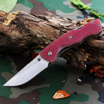 Sanrenmu 7095 SUC - GL - T4 Folding Knife with Bottle Opener and Belt Cutting