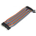 40PCS DuPont Male to Female Breadboard Jumper Wire