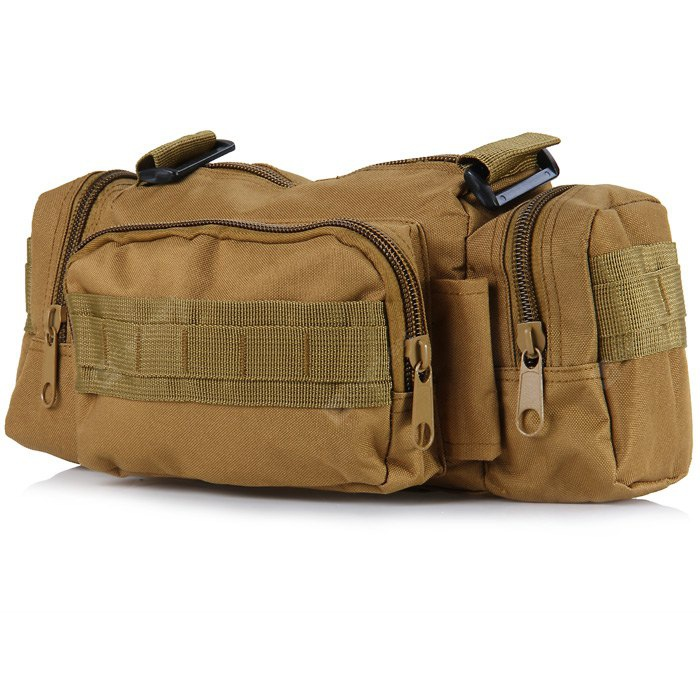TANTUQI 5L Utility Canvas Waist Bag Shoulder Pack Outdoor Hiking Messenger Cycling Supplies