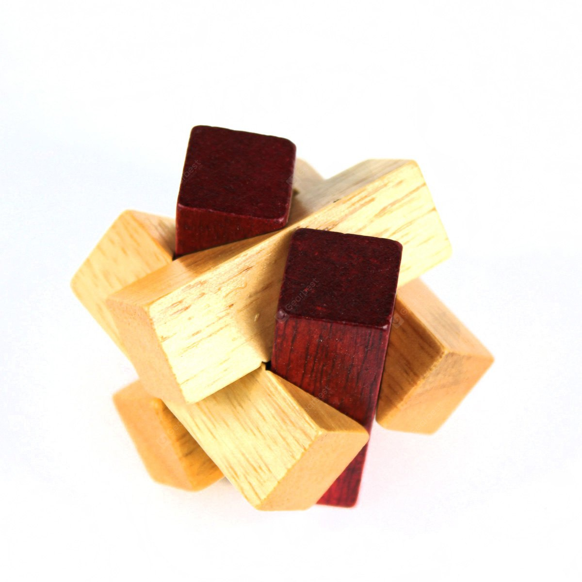 Puzzling Unlock Three-dimensional Wooden Toy
