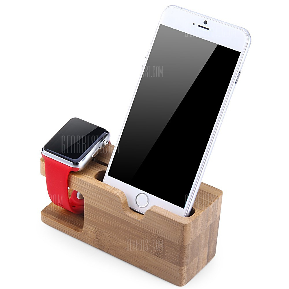 Bamboo Charging Dock Station Holder