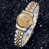 Lagtes Date Function Quartz Watch Alloy Band Lover Wristwatch photo