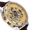 Winner Hollow-out Men Mechanical Watch with Leather Band deal