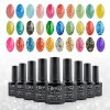 cheap Elite99 Glitter Color Gel Soak Off Nail Polish UV LED Diamond Glitter Shimmer Effect 10ml