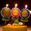 Buy Smiling Sunflower Cartoon Birthday Candle