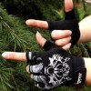 cheap Pair of Stylish Wolf Head Pattern Outdoor Fingerless Gloves For Men