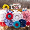 cheap Colorful 7.5 inch DIY Paper Flower Ball