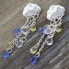 Pair of Stylish Faux Crystal Cloud Waterdrop Tassels Earrings For Women deal