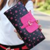 Sweet Floral Print and Buckle Design Women's Wallet