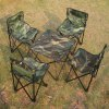 AOTU 5 in 1 Outdoor Folding Table and Chair Set for sale