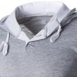 Hooded Color Block Panel Polyester T-Shirt deal