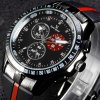 V6 V0258 Male Quartz Watch with Double Scales Rubber Band deal