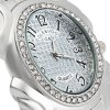 GND Women Diamond Quartz Watch with Stainless Steel Band Oval Dial deal