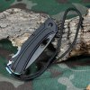 Sanrenmu 7081 BUI - PH Folding Knife with Back Locking and Hanging Rope deal