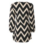 Fashionable Color Block Zigzag Printed Dress For Women for sale
