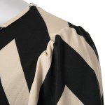 Fashionable Color Block Zigzag Printed Dress For Women photo
