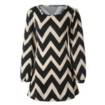 Fashionable Color Block Zigzag Printed Dress For Women deal