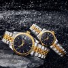 cheap Lagtes Date Function Quartz Watch Alloy Band Lover Wristwatch