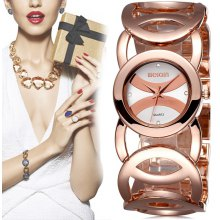 WeiQin 2487 Japan Quartz Bracelet Women Chain Watch with Hollow Out Alloy Band