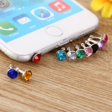 3.5mm Anti Dust Plug Diamond Design Earphone Jack Cap 10Pcs