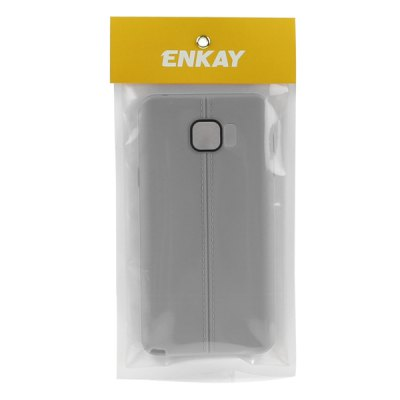Фотография ENKAY Leather Texture Soft TPU Scratch Resistant Protective Cover Case for Samsung Galaxy Note 5 N9200