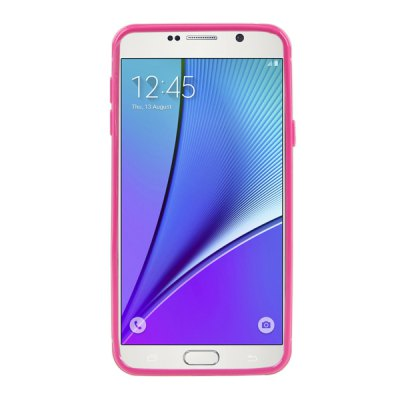 ФОТО ENKAY Leather Texture Soft TPU Scratch Resistant Protective Cover Case for Samsung Galaxy Note 5 N9200