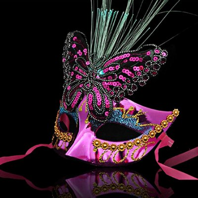 Fiber Butterfly Half Mask for Cosplay Princess