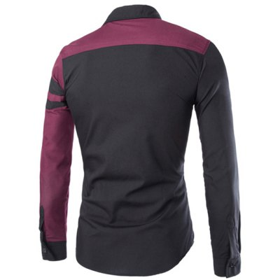 Trendy Slimming Shirt Collar Color Block Cross Pattern Splicing Long Sleeve Polyester Shirt For MenMens Shirts<br>Trendy Slimming Shirt Collar Color Block Cross Pattern Splicing Long Sleeve Polyester Shirt For Men<br><br>Shirts Type: Casual Shirts<br>Material: Polyester<br>Sleeve Length: Full<br>Collar: Turn-down Collar<br>Weight: 0.232KG<br>Package Contents: 1 x Shirt