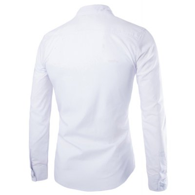 Modish Slimming Shirt Collar Badge Design Stripe Ribbon Long Sleeve Polyester Shirt For MenMens Shirts<br>Modish Slimming Shirt Collar Badge Design Stripe Ribbon Long Sleeve Polyester Shirt For Men<br><br>Shirts Type: Casual Shirts<br>Material: Polyester<br>Sleeve Length: Full<br>Collar: Turn-down Collar<br>Weight: 0.214KG<br>Package Contents: 1 x Shirt