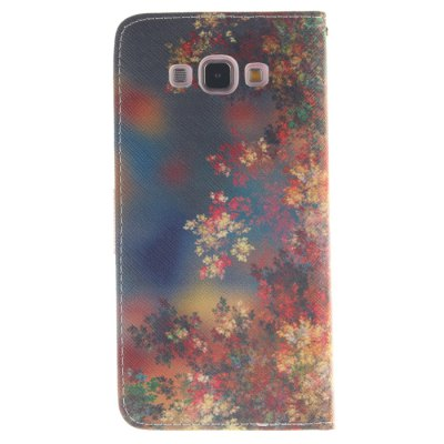 Гаджет   Colorful Leaf Pattern PU Leather Smart Fit Wallet Folio Case Kickstand Design with Credit Card Slot for Samsung Galaxy A8 Samsung Cases/Covers