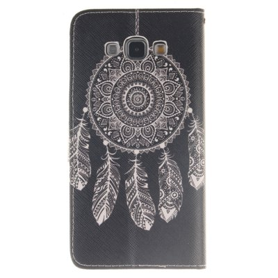 Гаджет   White Dreamcatcher Pattern PU Leather Smart Fit Wallet Folio Case Kickstand Design with Credit Card Slot for Samsung Galaxy A8 Samsung Cases/Covers