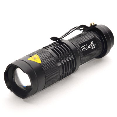 Ultrafire UK68 LED Flashlight SetLED Flashlights<br>Ultrafire UK68 LED Flashlight Set<br><br>Brand: Ultrafire<br>Model: UK68<br>Lamp Beads: Cree Q5<br>Beads Number: 1<br>Lumens: 250LM<br>Circuitry: 800mA<br>Color temperature: 6000K<br>Switch Type: Reverse Clicky<br>Switch Location: Tail Cap<br>Feature: Cooling Slot of High Efficiency, Pocket Clip<br>Function: EDC, Camping, Hiking, Night Riding, Household Use, Walking<br>Battery Type: 14500, AA<br>Battery Quantity: 1 x 14500 / AA battery (14500 batteries included)<br>Mode: 3 (High &gt; Low &gt; Strobe)<br>Adjustable Focus: Yes<br>Waterproof: IPX-4 Standard Water-resistant<br>LED Lifespan: 50000 hours<br>Power Source: Battery<br>Power: 3W<br>Working Voltage: 1.2-4.2V<br>Reflector: No<br>Lens: Resin Convex Lens<br>Impact Resistance: 1m<br>Beam Distance: 50-100m<br>Flashlight Processing Technology: Aerospace Grade Aluminum Body with Anti Scratching Type 2 Hard Anodization<br>Body Material: Aluminium Alloy<br>Available Light Color: White<br>Available Color: Green, Silver, Blue, Black, Red<br>High Mode: 60 minutes<br>Low Mode: 180 minutes<br>Strobe Mode: 75 minutes<br>Approximately: 60-180 minutes<br>Product weight: 0.062 kg<br>Package weight: 0.191 kg<br>Product size (L x W x H): 9.5 x 2.6 x 2.6 cm / 3.73 x 1.02 x 1.02 inches<br>Package size (L x W x H): 12 x 3.5 x 3.5 cm / 4.72 x 1.38 x 1.38 inches<br>Package Contents: 1 x Ultrafire UK68 Flashlight, 2 x 14500 Battery, 1 x US Plug Battery Charger