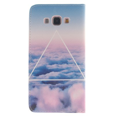 Гаджет   Cloud Pattern PU Leather Anti-scratch Slim Cover Case Kickstand Design with Credit Card Slot for Samsung Galaxy A8 Samsung Cases/Covers