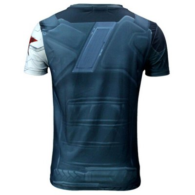 Modish Slimming Round Neck 3D Winter Soldier Print Short Sleeve Polyester Quick-Dry T-Shirt For MenMens Short Sleeve Tees<br>Modish Slimming Round Neck 3D Winter Soldier Print Short Sleeve Polyester Quick-Dry T-Shirt For Men<br><br>Material: Polyester<br>Sleeve Length: Short<br>Collar: Round Neck<br>Style: Fashion<br>Weight: 0.196KG<br>Package Contents: 1 x T-Shirt<br>Embellishment: 3D Print<br>Pattern Type: Others