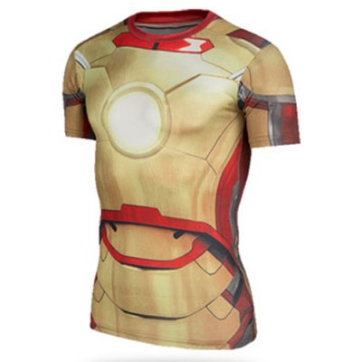 Trendy Skinny Round Neck 3D Iron Man Pattern Short Sleeve Quick-Dry Superhero T-Shirt For MenMens Short Sleeve Tees<br>Trendy Skinny Round Neck 3D Iron Man Pattern Short Sleeve Quick-Dry Superhero T-Shirt For Men<br><br>Material: Polyester, Lycra<br>Sleeve Length: Short<br>Collar: Round Neck<br>Style: Fashion<br>Weight: 0.215KG<br>Package Contents: 1 x T-Shirt<br>Embellishment: 3D Print<br>Pattern Type: Others