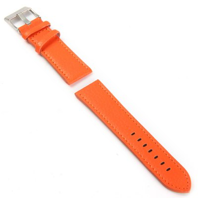 Pin Buckle 24mm Leather Band for WatchWatch Accessories<br>Pin Buckle 24mm Leather Band for Watch<br><br>Type: Normal watch band<br>Features: Stainless steel pin buckle, Leather band<br>Material: Leather<br>Color: Yellow, Orange<br>Product weight: 0.011 kg<br>Package weight: 0.061 kg<br>Product size (L x W x H) : 22 x 2.4 x 0.5 cm / 8.65 x 0.94 x 0.20 inches<br>Package size (L x W x H): 13.5 x 3.4 x 1.8 cm / 5.31 x 1.34 x 0.71 inches<br>Package Contents: 1 x Watch Band