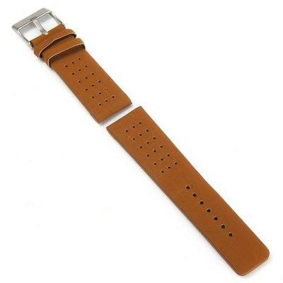 Гаджет   24mm Leather Band with Pin Buckle Little holes Watch Accessories