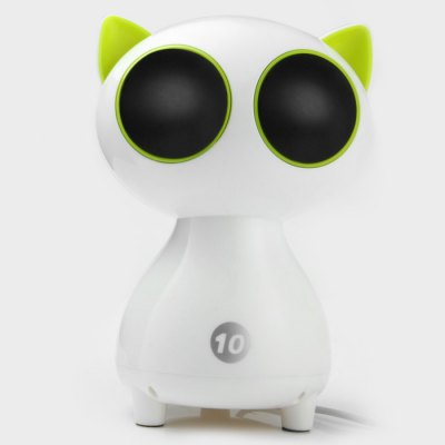 USB 2.0 Cat Digital SpeakerSpeakers<br>USB 2.0 Cat Digital Speaker<br><br>Design: Stylish<br>Supports: Volume Control, Loudspeaker<br>Functions: Stereo<br>Compatible With: Laptop, MP5, Tablet PC, Mobile Phone, PC, iPod, MP3, iPhone, MP4<br>Connection: Wired<br>Interface: 3.5mm Audio, USB2.0<br>Audio Source: Electronic Products with 3.5mm Plug<br>Certificate: CE<br>Material: Plastic<br>Color: Multi-color<br>Speaker Impedance: 4 ohm<br>Freq: 90Hz-20KHz<br>S/N: More than 60dB<br>Support O.S: Mac OS, Linux, Windows 2000, Windows XP, Windows 7, Windows Vista<br>Working Voltage: DC 5V<br>Product Weight: 0.270 kg<br>Package Weight: 0.373 kg<br>Product Size (L x W x H): 8 x 8 x 17 cm / 3.14 x 3.14 x 6.68 inches<br>Package Size (L x W x H): 11 x 10 x 20 cm / 4.32 x 3.93 x 7.86 inches<br>Package Contents: 1 x USB 2.0 Cat Digital Speaker