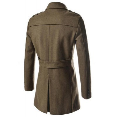 Elegant Fake Belt Inclined Top Fly Multi-Zipper Epaulet Design Slimming Lapel Long Sleeves Mens PeacoatMens Jakets &amp; Coats<br>Elegant Fake Belt Inclined Top Fly Multi-Zipper Epaulet Design Slimming Lapel Long Sleeves Mens Peacoat<br><br>Clothes Type: Trench<br>Material: Polyester, Cotton<br>Collar: Turn-down Collar<br>Clothing Length: Long<br>Style: Fashion<br>Weight: 0.980KG<br>Sleeve Length: Long Sleeves<br>Season: Winter, Fall<br>Package Contents: 1 x Coat