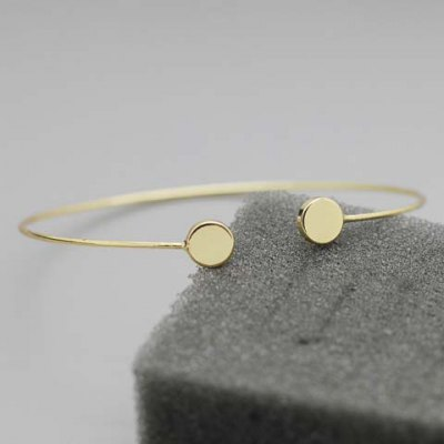 Stylish Pure Color Round Cuff Bracelet For Women