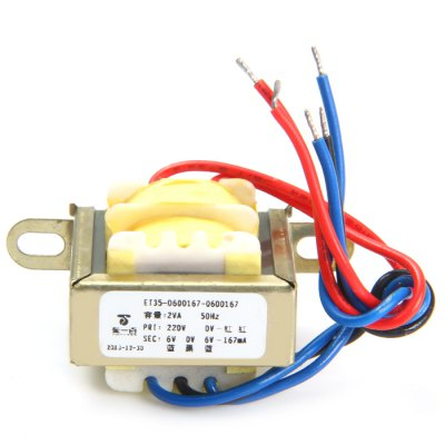 Гаджет   2VA 50Hz 220V to Double 6V 167mA Transformers DIY Parts & Components