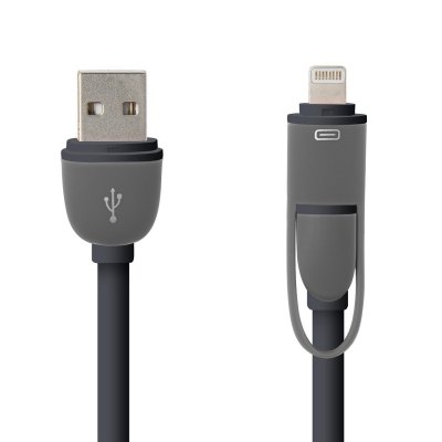 Hat-Prince 2 in 1 Micro USB Interface 8 Pin Adapter Charge and Data Transfer Cable 1m, , $6.38, Hat-Prince 2 in 1 Micro USB Interface 8 Pin Adapter Charge and D, , Apple Accessories