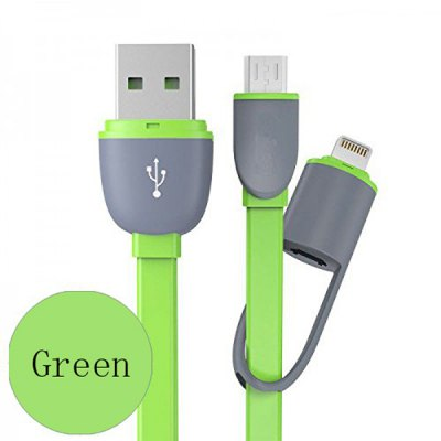 Hat-Prince 2 in 1 Micro USB Charge and Sync Cable with 8 Pin Adapter