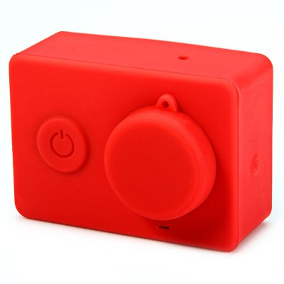 Silicone Shell Protective Case and Lens Protective Cap for Xiaomi Yi Action Camera